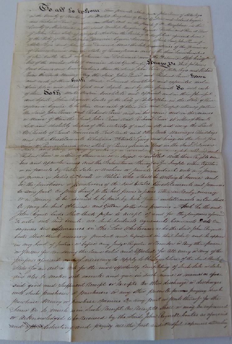 LOT (4) DOCUMENTS-JOHN & WILLIAM PENN LAND - 2