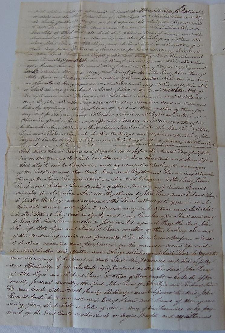 LOT (4) DOCUMENTS-JOHN & WILLIAM PENN LAND - 3
