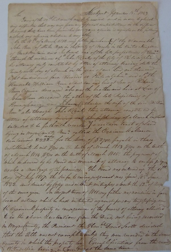 LOT (4) DOCUMENTS-JOHN & WILLIAM PENN LAND - 6