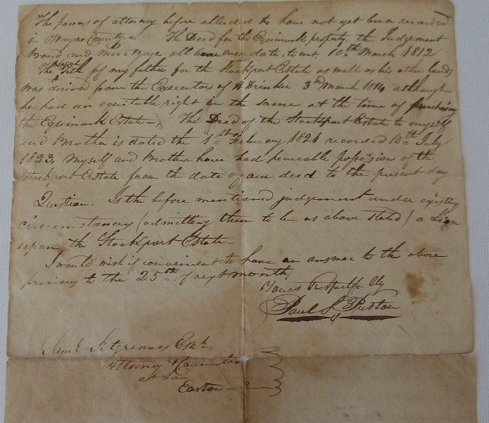 LOT (4) DOCUMENTS-JOHN & WILLIAM PENN LAND - 7