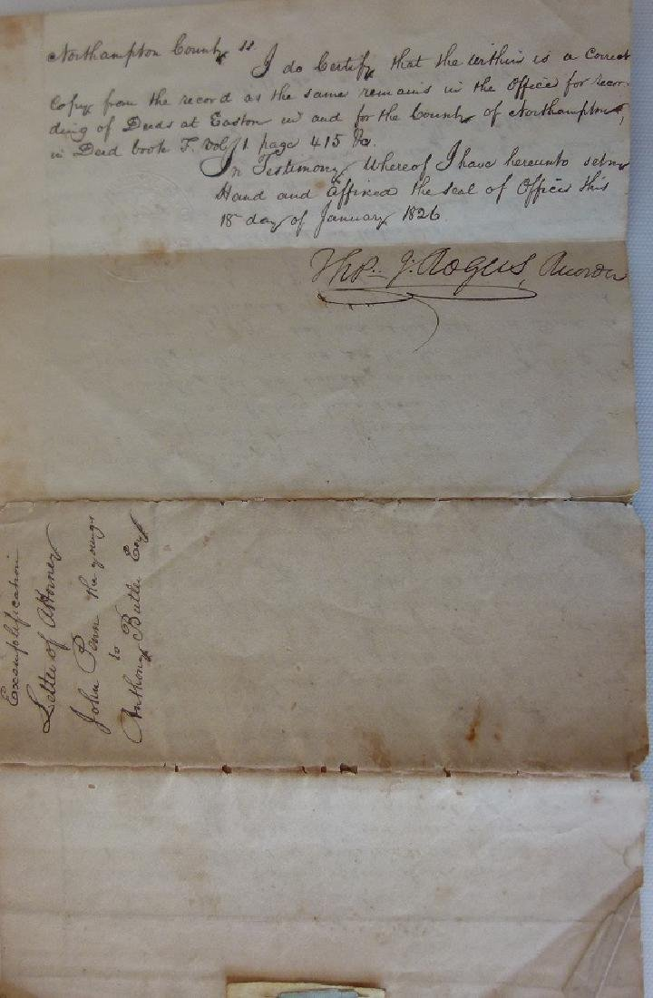 LOT (4) DOCUMENTS-JOHN & WILLIAM PENN LAND - 9