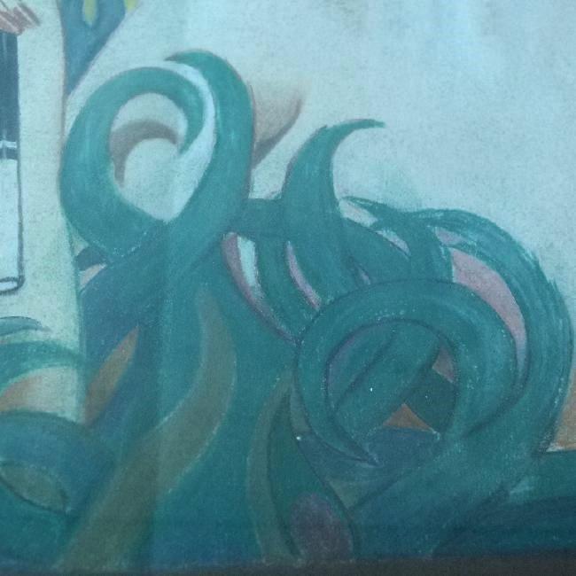 (2) ART DECO PASTELS ART DECO WOMAN SIGNED W. ERICKSON - 5