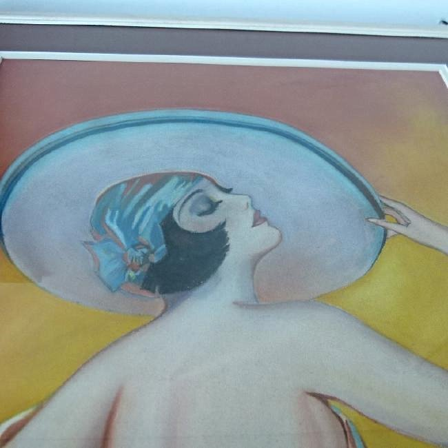 (2) ART DECO PASTELS ART DECO WOMAN SIGNED W. ERICKSON - 7