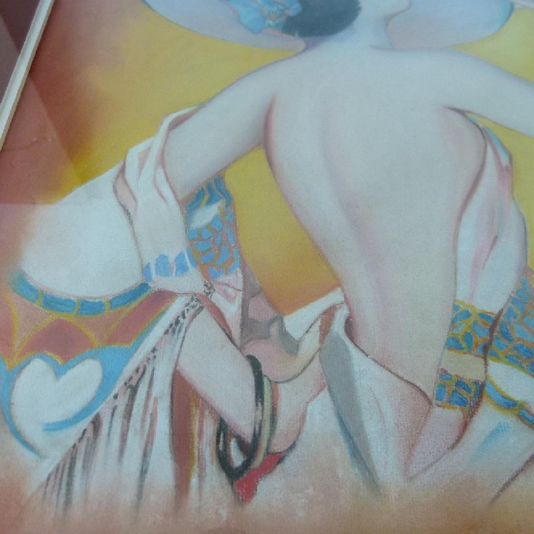 (2) ART DECO PASTELS ART DECO WOMAN SIGNED W. ERICKSON - 8