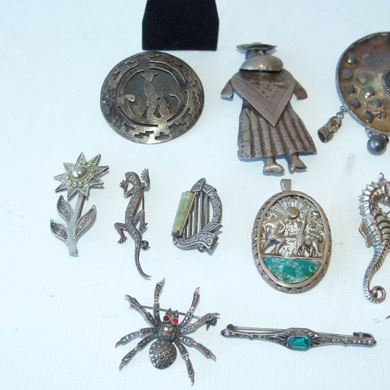 LARGE LOT ASSORT. MEXICAN STERLING/SILVER JEWELRY - 3