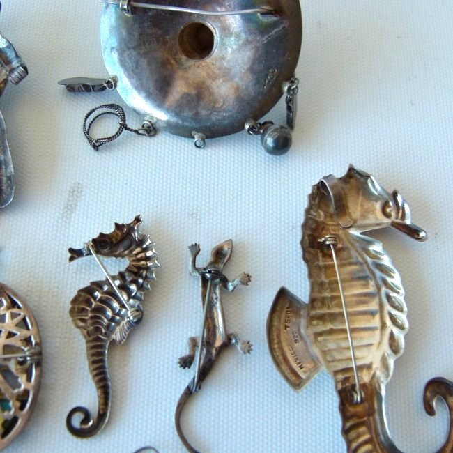 LARGE LOT ASSORT. MEXICAN STERLING/SILVER JEWELRY - 6