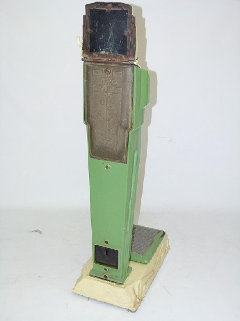 ART DECO ENAMELED CAST IRON PENNY SCALE C. 1920/30 - 5
