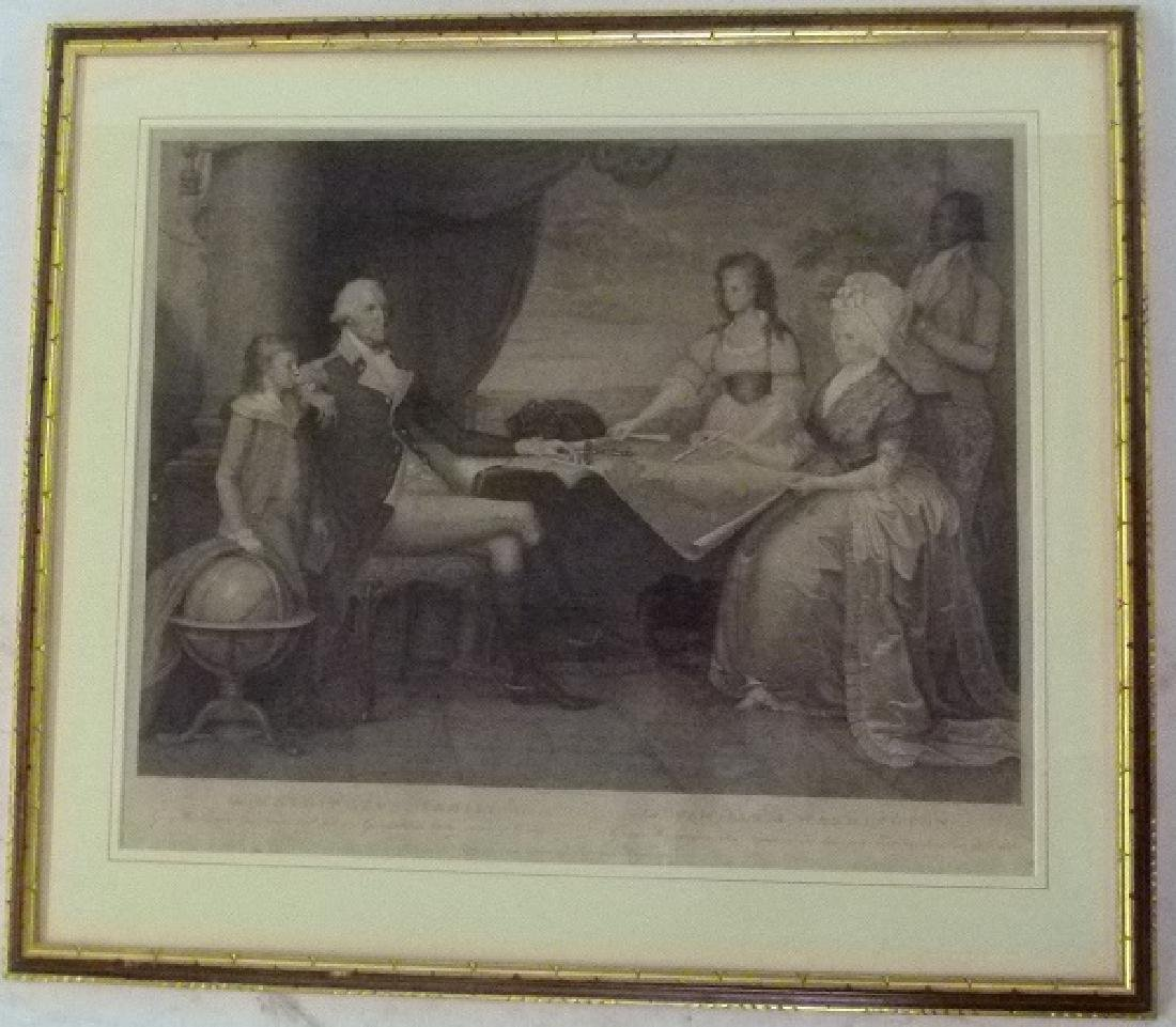 "STEEL ENGRAVING ""THE WASHINGTON FAMILY"" E. SAVAGE"