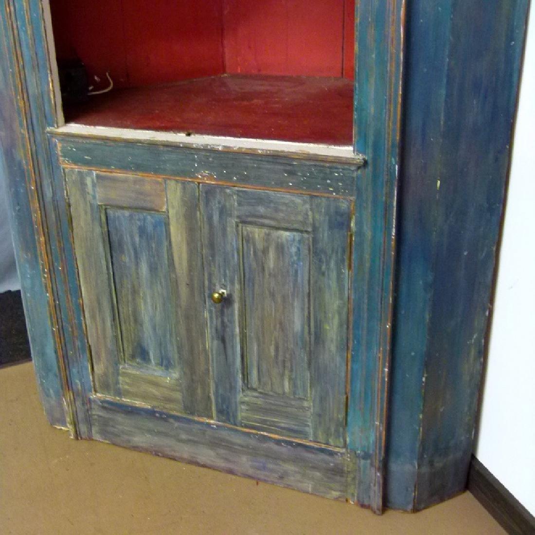 HUDSON VALLEY ROBINS EGG BLUE CORNER CUPBOARD, 18/19TH - 5