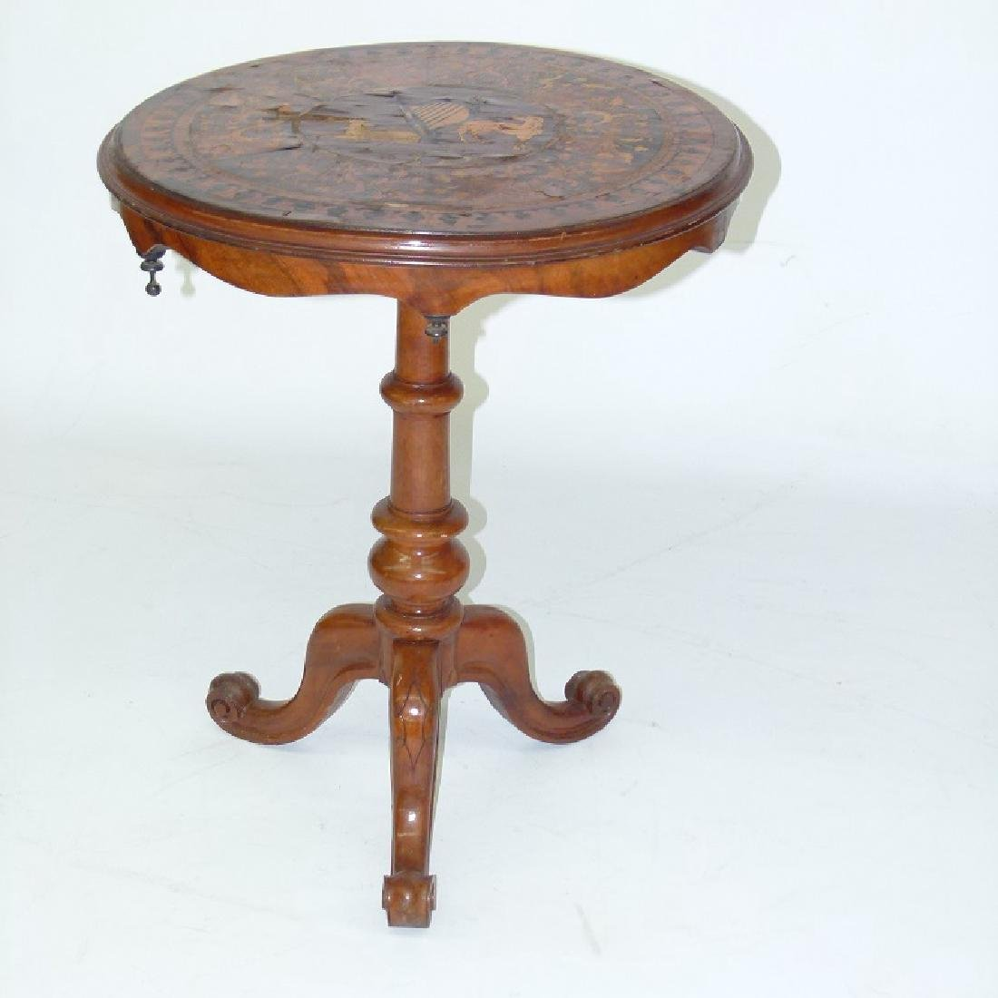 IRISH VICTORIAN INLAID WALNUT OCCASIONAL TABLE, 19TH C.