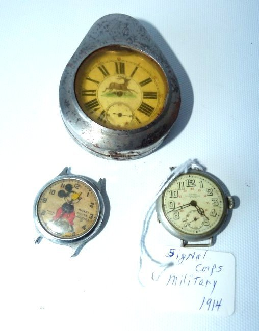 LOT (3) VINTAGE WATCHES INCL. COIN SILVER GERMAN HUNT