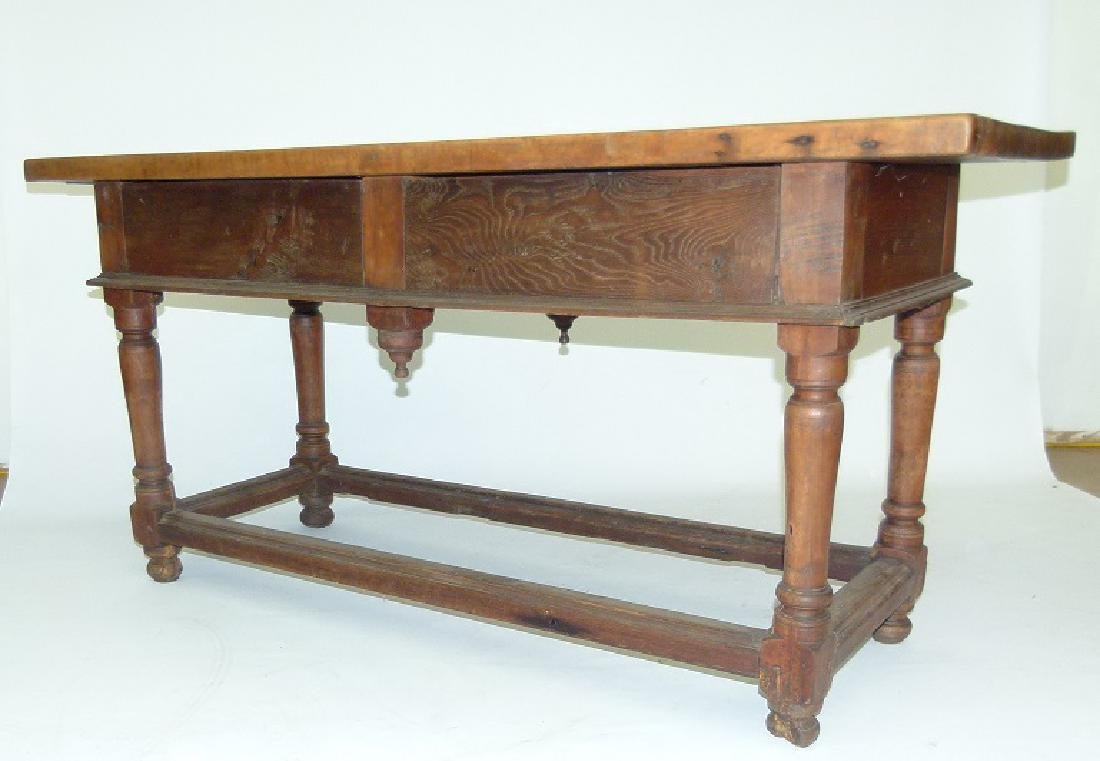 SPANISH COLONIAL TWO DRAWER SIDE TABLE, 17TH C. - 10