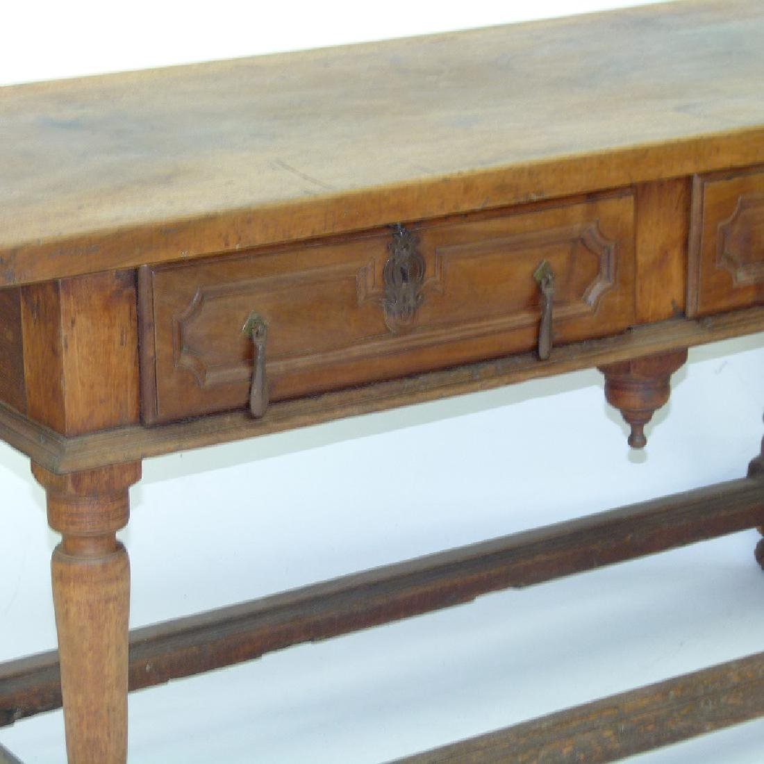 SPANISH COLONIAL TWO DRAWER SIDE TABLE, 17TH C. - 3
