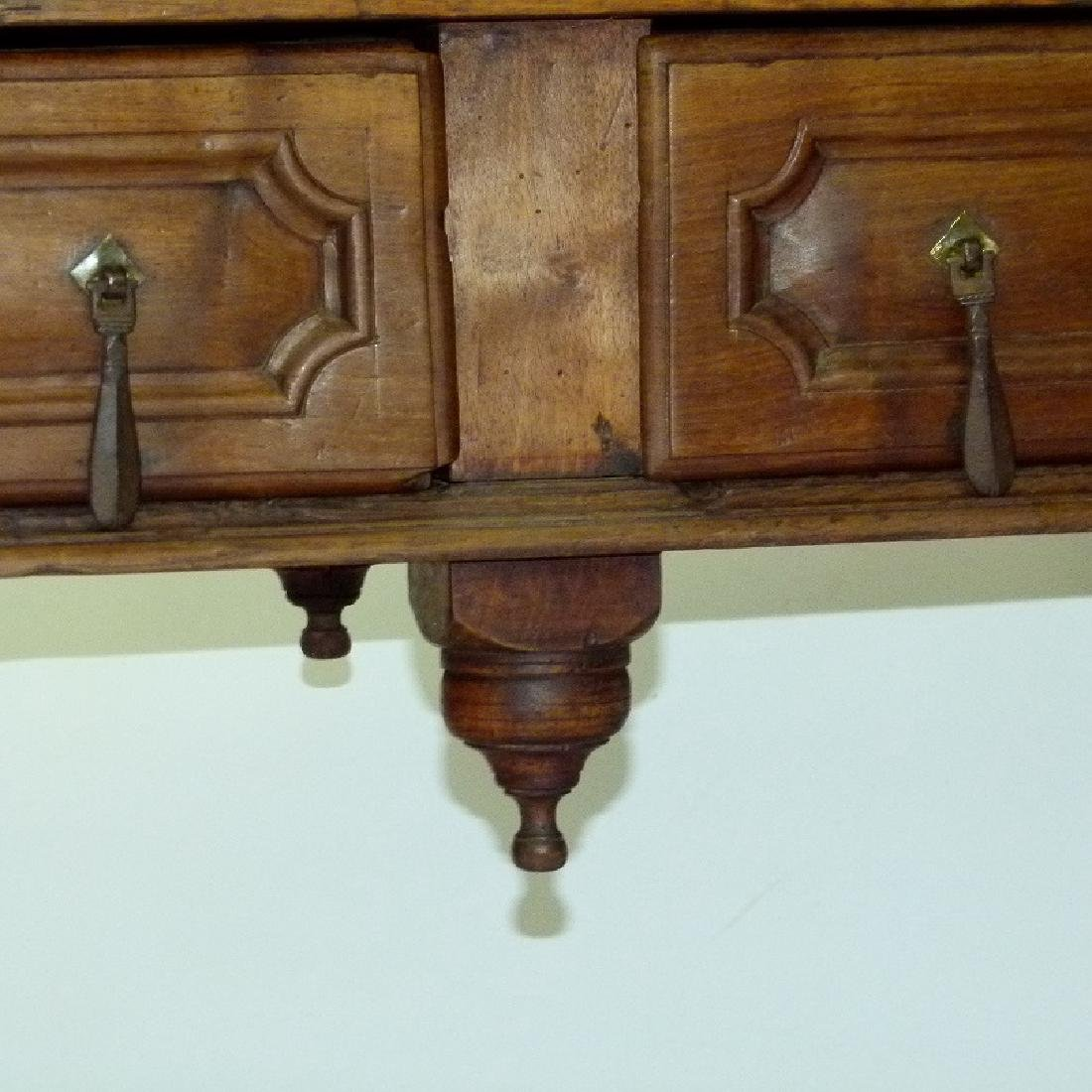 SPANISH COLONIAL TWO DRAWER SIDE TABLE, 17TH C. - 5