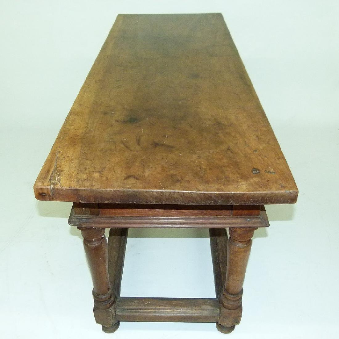 SPANISH COLONIAL TWO DRAWER SIDE TABLE, 17TH C. - 7