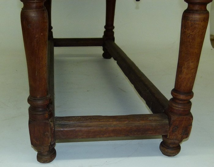 SPANISH COLONIAL TWO DRAWER SIDE TABLE, 17TH C. - 8
