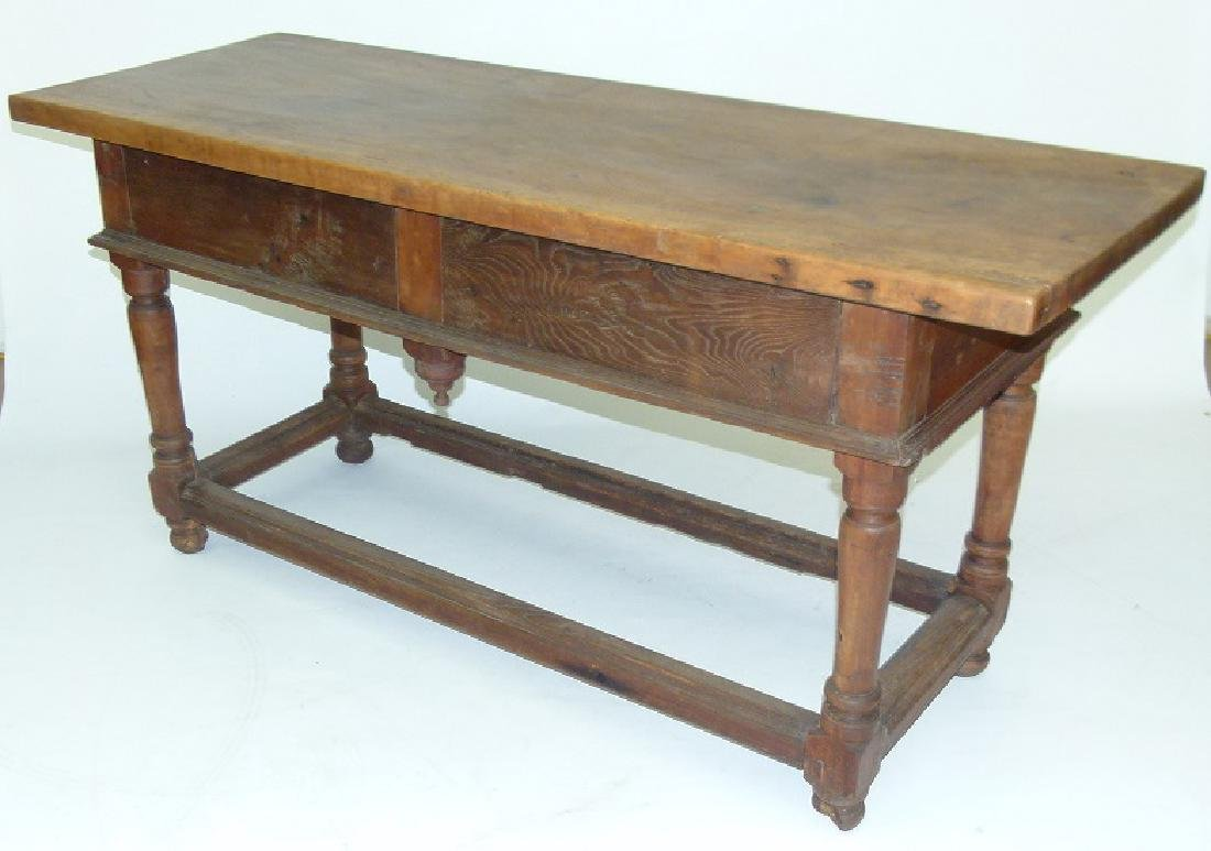 SPANISH COLONIAL TWO DRAWER SIDE TABLE, 17TH C. - 9