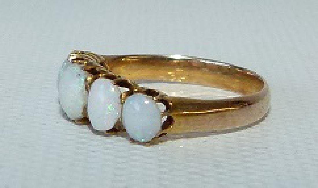 VICTORIAN 14KT YELLOW GOLD/OPAL RING, 19TH C. - 3