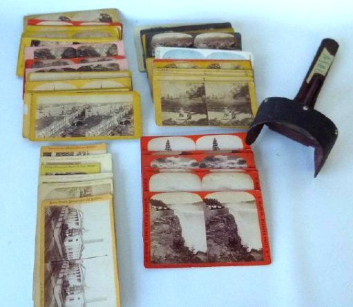 LOT ASSORTED STEREOPTIC VIEW CARDS, 19TH C.