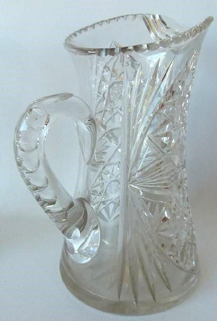 (6) AMERICAN BRILLIANT CUT GLASS, CANDLESTICKS, BOTTLE - 5
