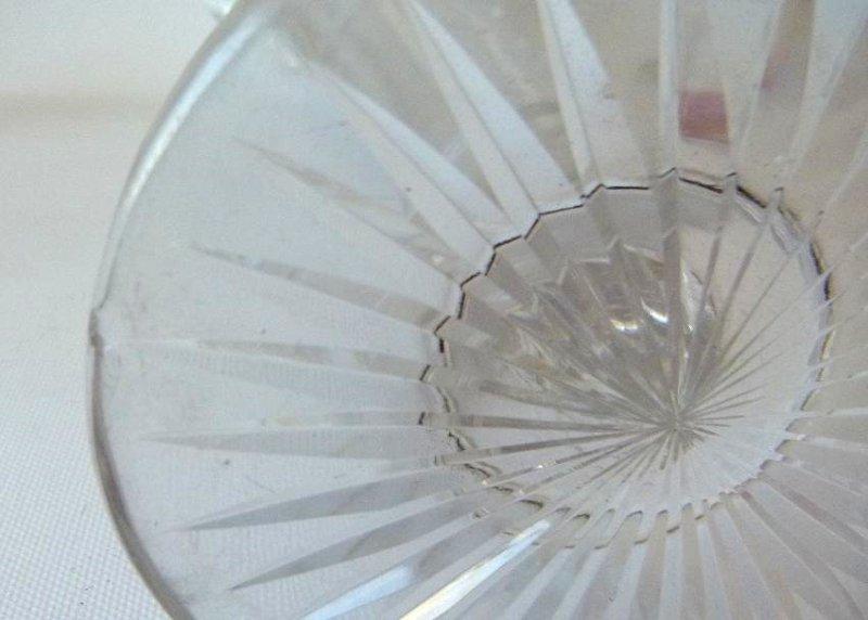 (6) AMERICAN BRILLIANT CUT GLASS, CANDLESTICKS, BOTTLE - 7