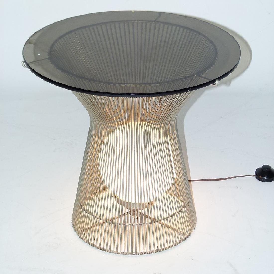 WARREN PLATNER ART MODERN CHROME/GLASS END TABLE