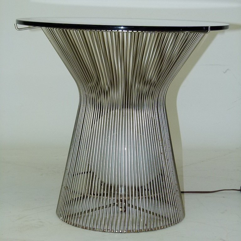 WARREN PLATNER ART MODERN CHROME/GLASS END TABLE - 6