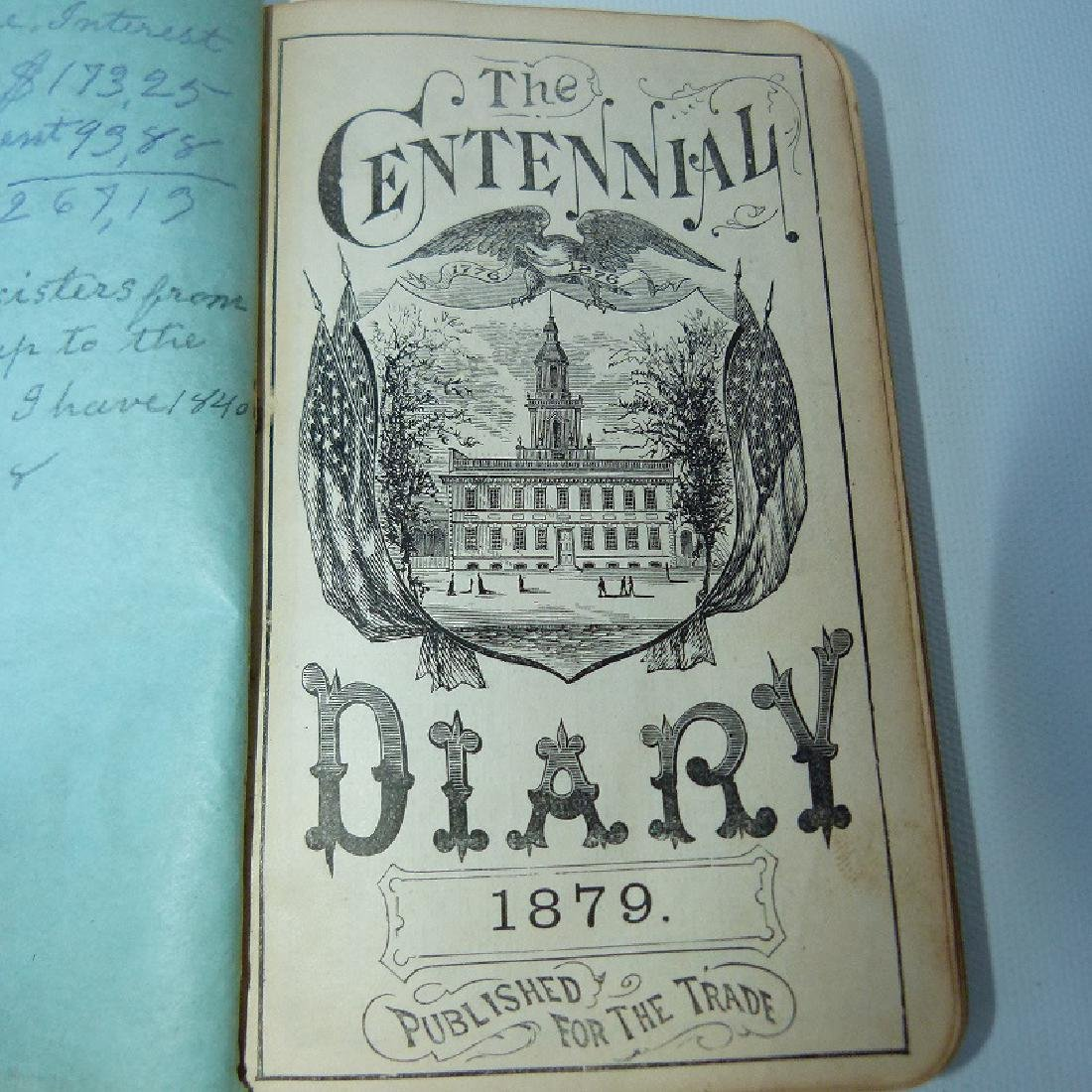 (4) EARLY VT ALMANACS/DIARIES W/HAND INSCRIBED - 4