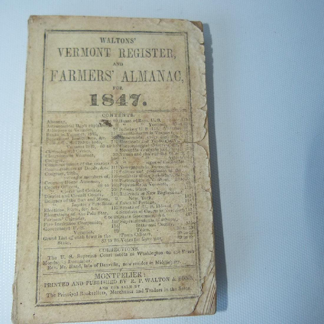 (4) EARLY VT ALMANACS/DIARIES W/HAND INSCRIBED - 5