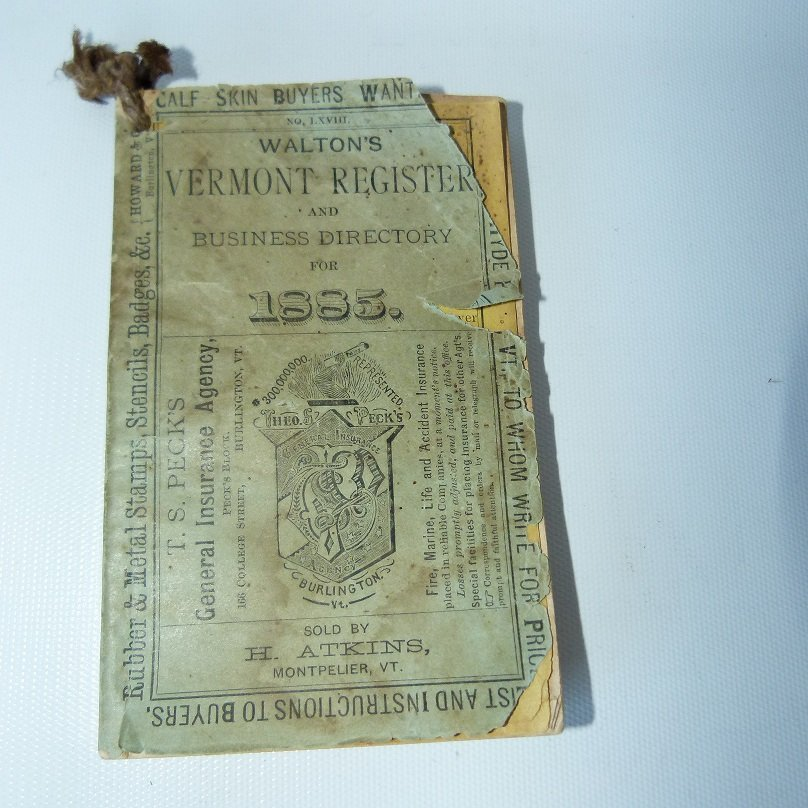 (4) EARLY VT ALMANACS/DIARIES W/HAND INSCRIBED - 7