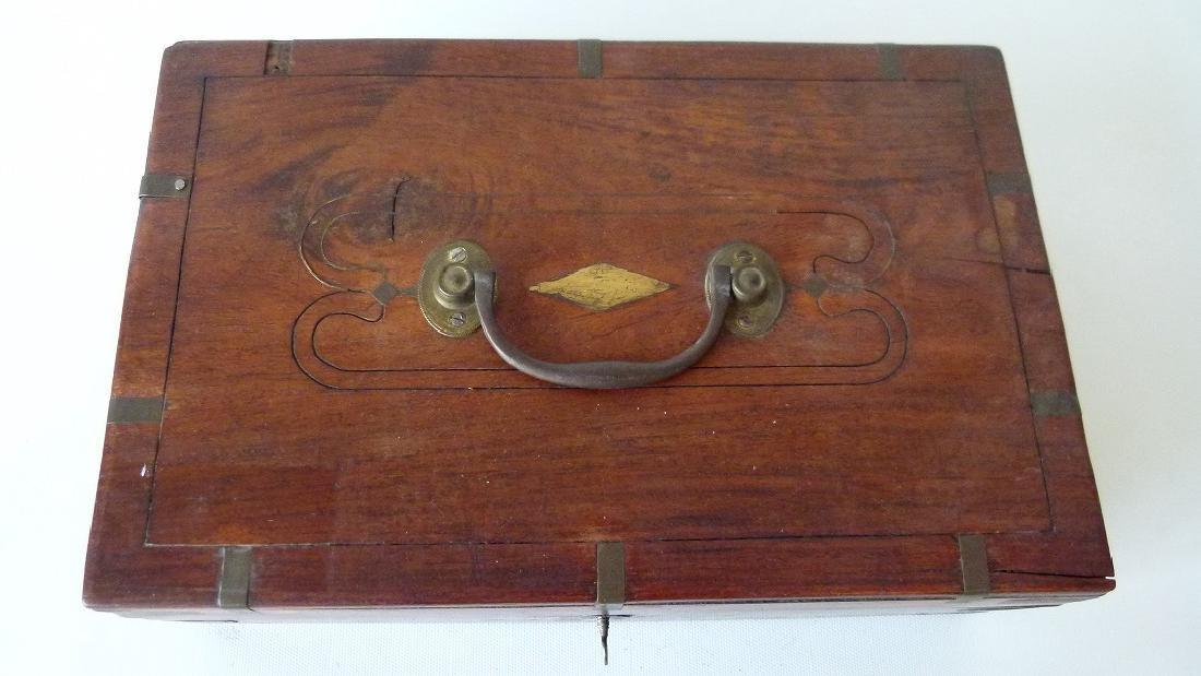 VICTORIAN MAHOGANY SEWING BOX, 19TH C. - 2