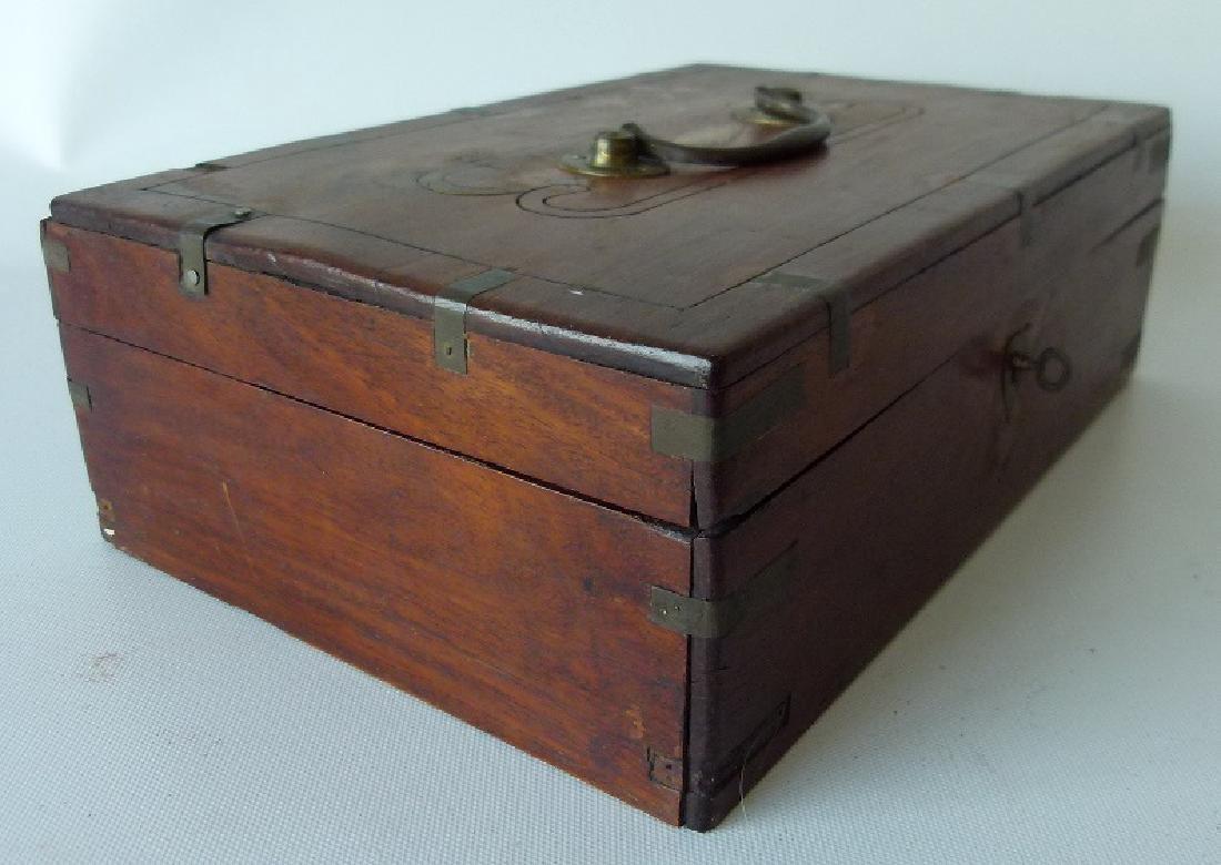 VICTORIAN MAHOGANY SEWING BOX, 19TH C. - 3