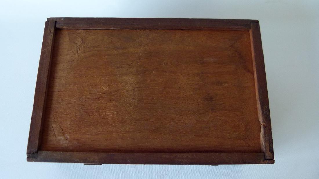 VICTORIAN MAHOGANY SEWING BOX, 19TH C. - 4