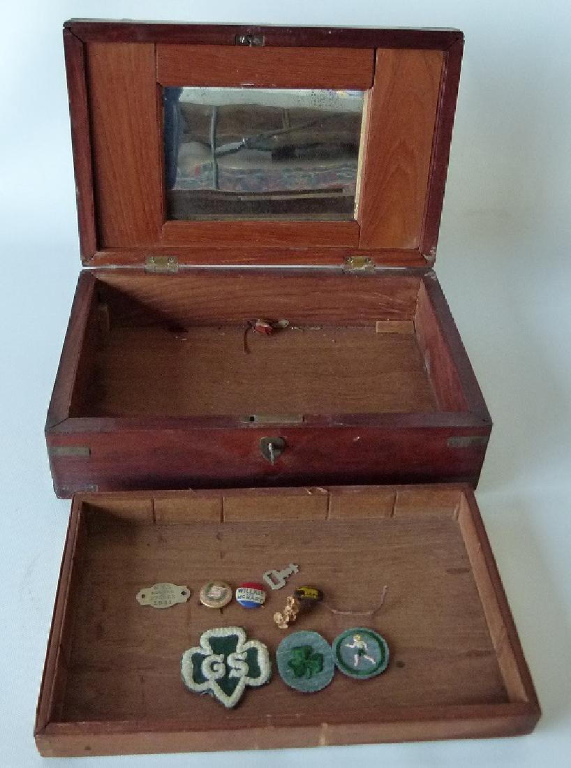VICTORIAN MAHOGANY SEWING BOX, 19TH C. - 6