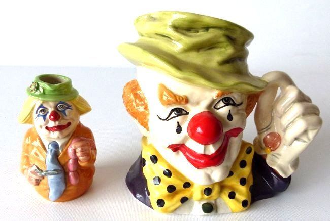 LOT (2) ROYAL DOULTON THE CLOWN/CHARLIE CHEERS TOBY