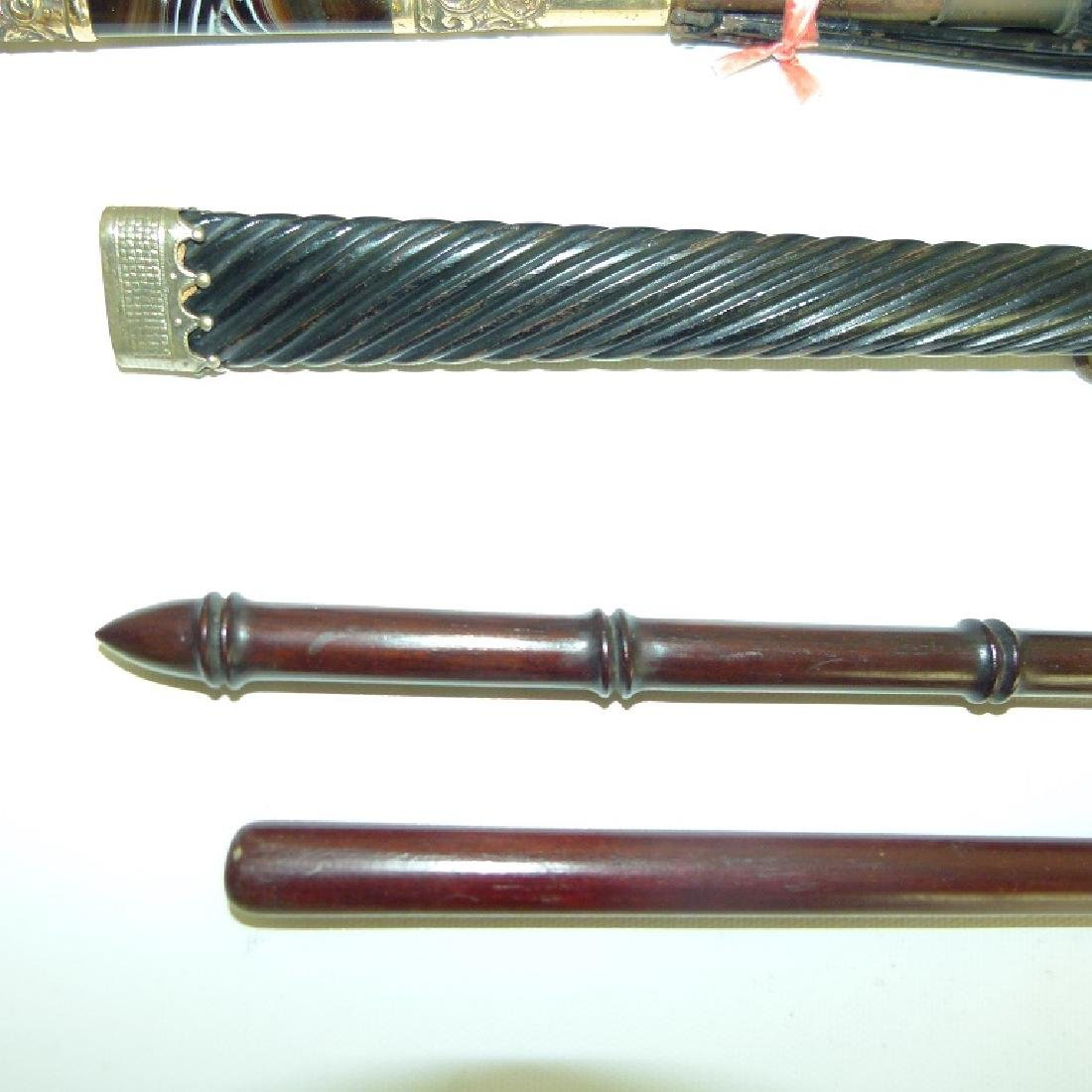 (6) VICT. REPOSSE PLATED/HORN PARASOLS/SWAGGER STICKS - 4