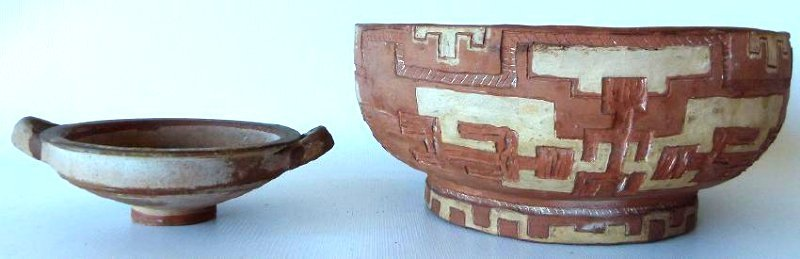 LOT (2) SOUTHWEST AMERICAN INDIAN POTTERY BOWLS,