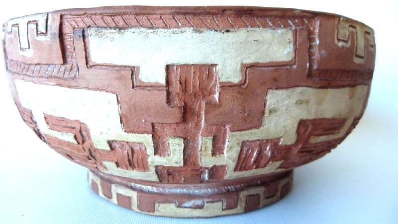 LOT (2) SOUTHWEST AMERICAN INDIAN POTTERY BOWLS, - 2