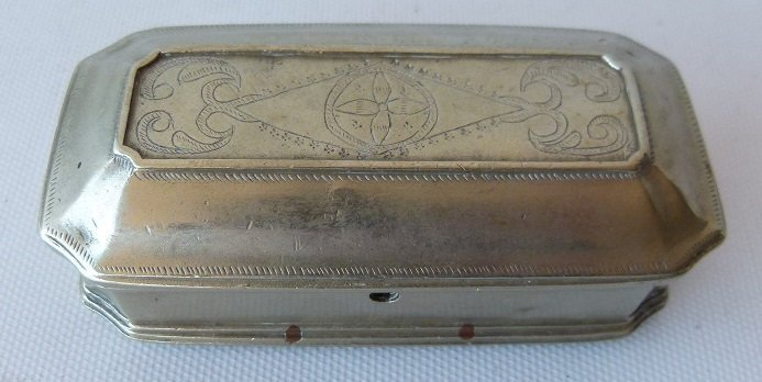 REGENCY GERMAN SILVER SNUFF CASKET 18TH C.