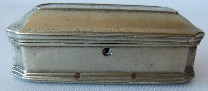REGENCY GERMAN SILVER SNUFF CASKET 18TH C. - 2