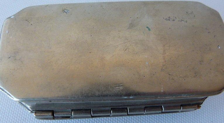 REGENCY GERMAN SILVER SNUFF CASKET 18TH C. - 6