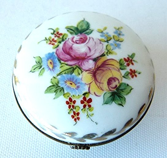 LOT (2) FRENCH H/P SEVE'S PORCELAIN TRINKET BOXES 19TH - 6