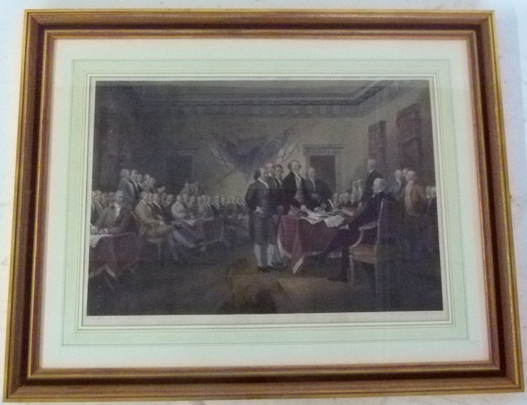 "H/C STEEL ENGRAVING ""THE DECLARATION OF INDEPENDENCE"""