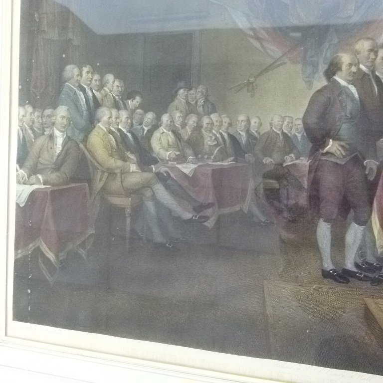 "H/C STEEL ENGRAVING ""THE DECLARATION OF INDEPENDENCE"" - 3"