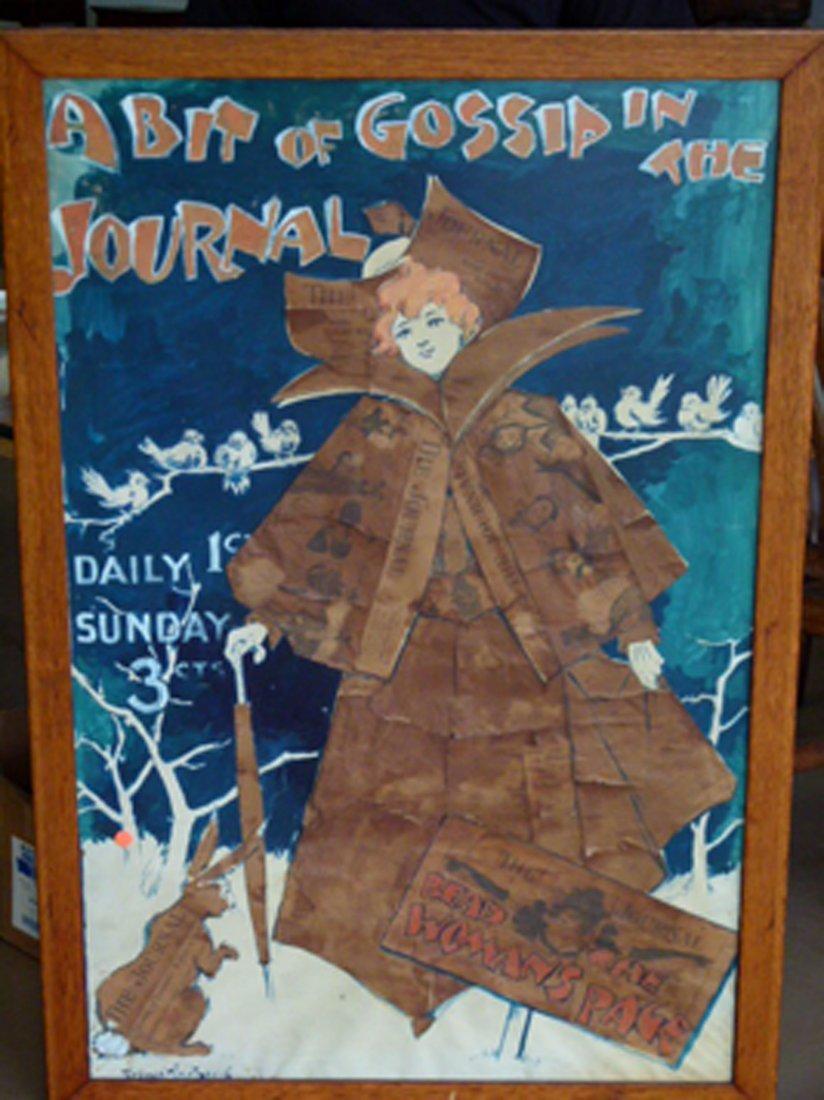 RARE W/C LADIES HOME JOURNAL ORIGINAL POSTER ARTWORK - 2