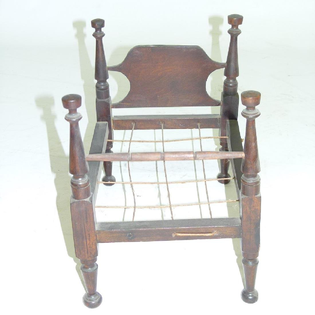 SHERATON CHERRY CHILDS DOLL BED, C. 1820/30