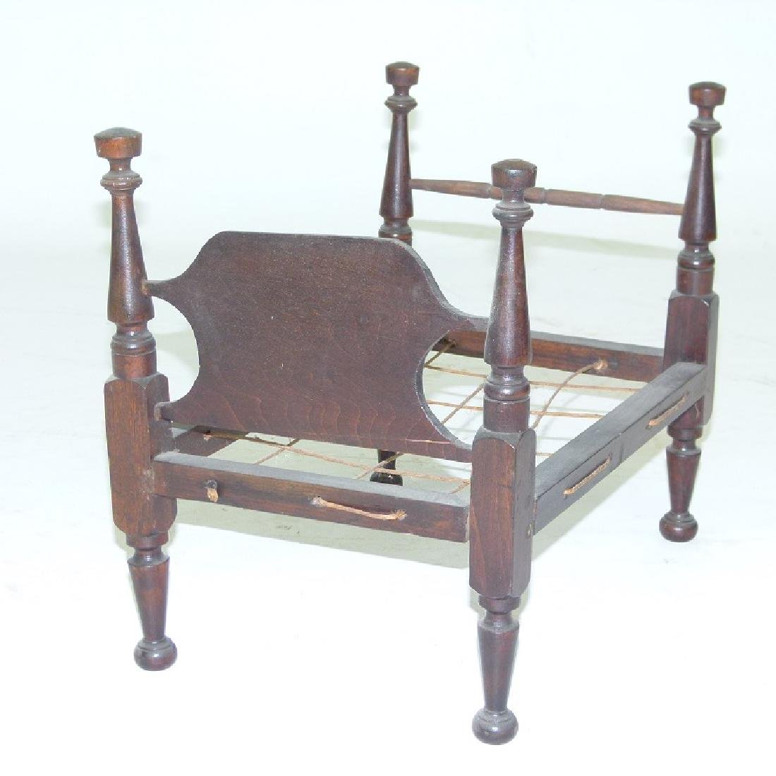 SHERATON CHERRY CHILDS DOLL BED, C. 1820/30 - 3