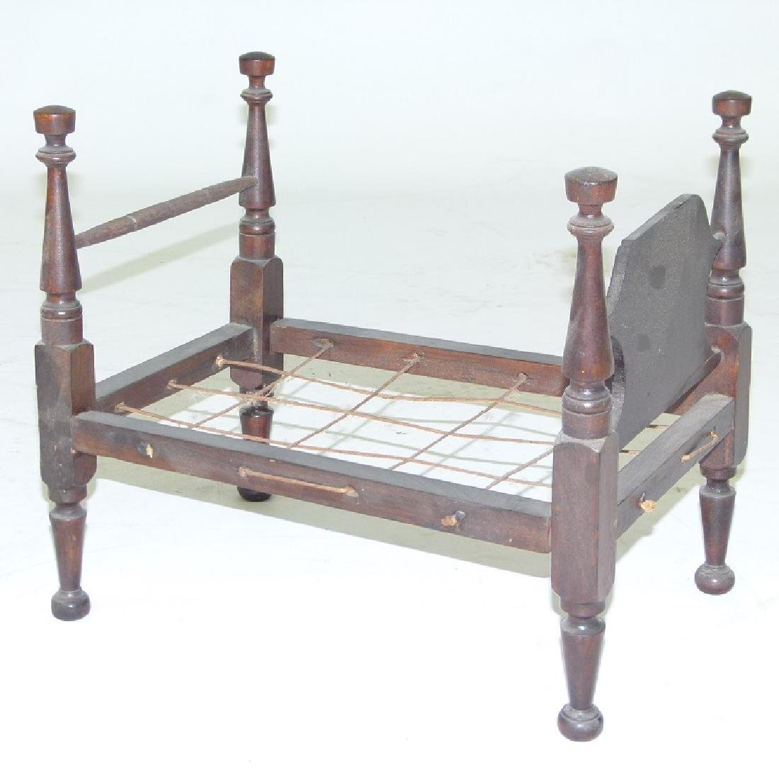 SHERATON CHERRY CHILDS DOLL BED, C. 1820/30 - 4