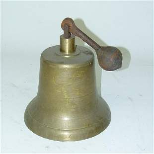 EARLY BRASS FIRE TRUCK BELL, EARLY 20TH C.