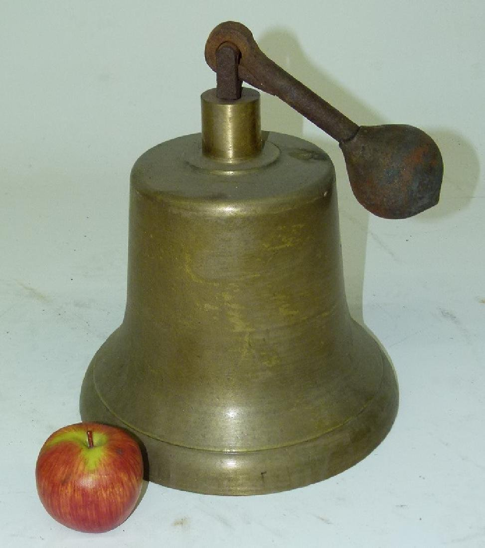 EARLY BRASS FIRE TRUCK BELL, EARLY 20TH C. - 3